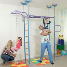 Huge Kids Indoor Playground Play Set With Equipment Room / WallBarz Jungle Dome #sportkid