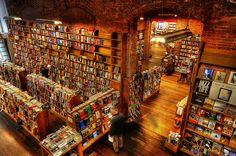 Elliot Bay Book Company in Seattle - just as good since their move to Capitol HIll