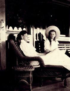 Empress Alexandra and Olga
