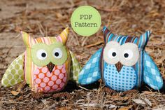 Owl Pattern PDF Sewing Pattern for Owl Soft Toy by AngelLeaDesigns, $11.50