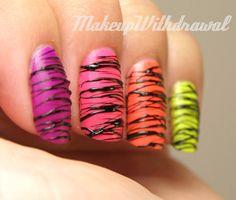 Neon Sugar Spun Manicure