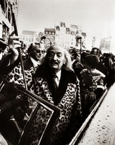 The idiosyncratic Spanish surrealist artist Salvador Dali arriving at the Pompidou Centre in Paris for his latest exhibition, 8th January 1980. (Photo by Keystone)