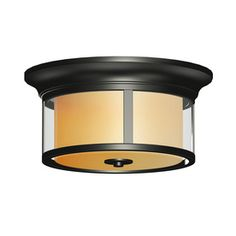 Mud room  allen   roth�8-11/16-in W Hartwick Oil-Rubbed Bronze Ceiling Flush Mount
