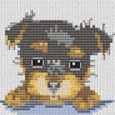 Yorkshire terrier puppy pixels Cross Stitching, Cross Stitch Embroidery, Cross Stitch Patterns, Perros Yorkshire Terrier, Pet Dogs, Dog Cat, Yorkie, Pixel Art, Teddy Bear