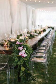 Ivy Robinson, you've done it again. This time around you've designed a wedding that puts a fresh spin on bohemian glamour, with details like a tassel chandelier, gemstone invites, and a tented reception space that's the very definition of cool. Brides, do