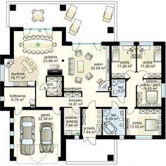 New Flooring Design Ground Ideas Dream Home Design, Home Design Plans, Home Interior Design, House Design, Bungalow House Plans, House Floor Plans, African House, Model House Plan, House Blueprints