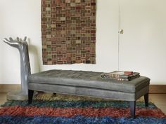 The sofa.com Club footstool in Lave Devon leather - $1,190