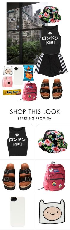 """""""Untitled #308"""" by danielagreg ❤ liked on Polyvore featuring Crash & Burn, Illustrated People, adidas, Sixtyseven, JanSport, HEX, FRUIT and Fujifilm"""