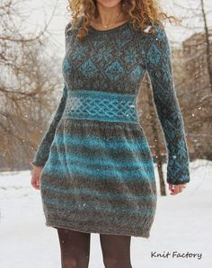 Type:Long SleeveSilhouette:A-lineThickness:HeavyweightMaterial:Cotton-blend,KnittedNeckline:Round NeckOccasion:DaytimeStyle:Vintage,CasualTheme:Winter,FallColor:Deep Knit Skirt, Knit Dress, Dress Skirt, Knit Fashion, Fashion Outfits, Nice Dresses, Casual Dresses, Fair Isle Knitting, Knitting Designs
