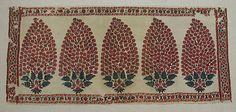 End panel of Kashmiri sash, pashmina wool