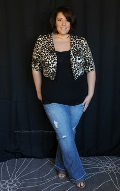 Life  Style of Jessica Kane - a great blog!  And this is just a great outfit.  I don't know why I never realized how cute cropped jackets were on plus sized girls...