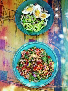 Jamie's Bulgar Wheat and Lentil Salad is inspired by Turkish flavours, this salad is colourful and fragrant, a bowlful of summer whatever the weather.