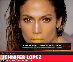"Jennifer Lopez's makeup look in ""Live It Up"" video"
