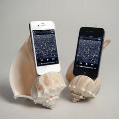 巻き貝の貝殻を再利用したiPhoneスピーカー [iPhone/グッズ]