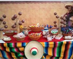 Candy table for Mexican fiesta theme wedding