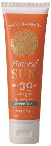 Aubrey Organics - Natural Sun Sunscreen High Protection Green Tea 30 SPF - 4 oz. OVERSTOCKED $14.99