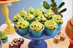 Alien cupcakes from the toy story :)