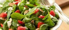 Ensalada de espinacas, fresas y palmito - Cocina y Vino