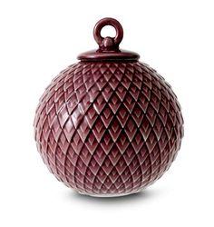 Lyngby Porcelæn - Rhombe kugle Bordeaux