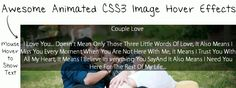 Awesome Animated CSS3 Image Hover Effects Text