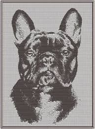 Image result for french bulldog patterns Cross Stitch Alphabet, Cross Stitch Embroidery, Cross Stitch Patterns, Machine Embroidery, C2c Crochet, Crochet Chart, Filet Crochet, Quilt Blocks, French Bulldog