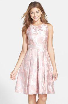 438994e6ce377 Eliza J Floral Jacquard Fit & Flare Dress | Nordstrom. Evening Dresses Uk Womens ...