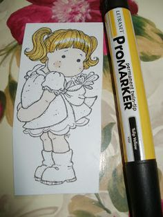 Craft my life: Colouring Blonde Hair with Promarkers                                                                                                                                                                                 Plus