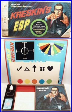Vintage 1966 Kreskin'S ESP Psychic Board Game by Milton Bradley, Fun Retro Game!