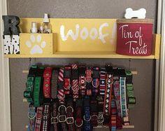 Dog Leash Holder Dog Collar Custom Dog Leash Holder by KaysDekor