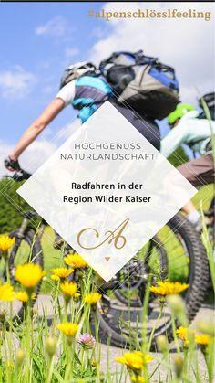 Auf zwei Rädern durch den Sommer Ob gemütliches Genussradeln oder herausfordernde Bergtouren in den Kitzbüheler Alpen – für jeden Fitnesslevel ist das Passende dabei. Über 350 km Rad und Mountainbikewege, versprechen Spaß und Abwechslung. Geführte Radtouren: Die Bikeprofis von der Region Wilder Kaiser zeigen Ihnen die besten Radstrecken. Viele Radstrecken führen an Flüssen entlang, durch idyllische, ursprüngliche Landschaften. #alpenschlösslfeeling #radurlaub #wilderkaiser #unterkunft Wilder Kaiser, Packaging, Events, Stuff Stuff, Clothing, Brass Band Music, Wine Festival, Bike Rides, Summer