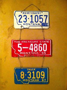 Antique license plate wall decor
