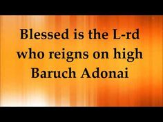 Paul Wilbur - Blessed is the Lord - Lyrics - YouTube