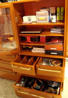 Re-ment Cupboards - I never thought to use it for office supplies instead of dishes!