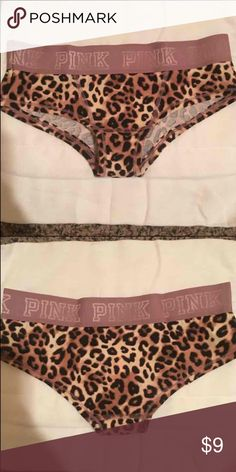 New XS VS PINK leopard panties Brand new! So soft! PINK Victoria's Secret Intimates & Sleepwear Panties
