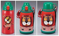 TIGER 水筒 ステンレスボトル 「サハラ」 2WAY コロボックル ライオン 0.6L MBR-A06G-R