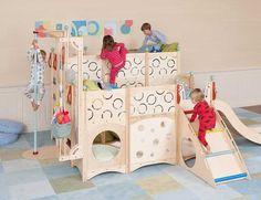 A CedarWorks bunk bed can be configured as stadium bedding
