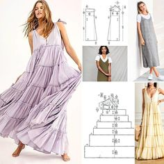 Diy Clothes Patterns, Diy Clothes Design, Sewing Patterns Free, Fashion Sewing, Diy Fashion, Fashion Outfits, Diy Barbie Clothes, Sewing Clothes, Dress Making Patterns