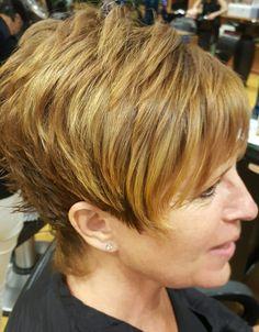 Highlights, short haircut, pixie, haircut, illusions of shirlington
