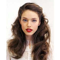 Vintage Half up Half down Hair You Must Try via Polyvore featuring beauty products, haircare, hair, modell, people and vintage beauty products