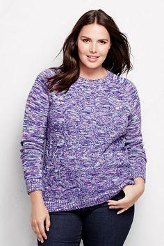 Women's Drifter Texture Marl Pullover Sweater from Lands' End