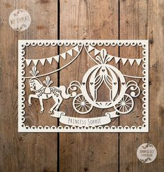 Bunting Princess Carriage SVG / PDF Design by TommyandTillyDesign