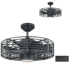 Enclave 23-in Natural Iron Downrod Mount Ceiling Fan with Light Kit and Remote