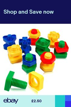 ff5b6b8d98f 1 set Screw Building Blocks Insert Blocks Nut Shapes Kids Educationals Gift  Toy