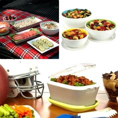 Transporting and serving your hot or cold foods for a party, picnic or tailgating has never been easier! Generously sized for group gatherings, these carriers keep dishes warm or chilled for hours. Spill-proof locking covers & non-skid bases get your food to the event looking great. Learn more today at www.Fit-Fresh.com