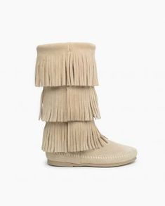 5a31671b4430 Fringed boots for ladies