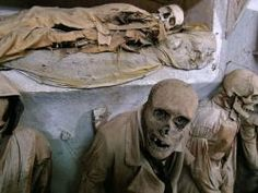 crypt-capuchin-mummies of monks  Palermo, Italy