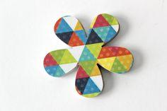 Geometric Flower Die Cuts  Colorful Triangles  by SweetPaperLove