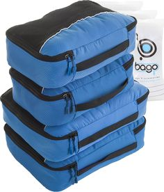Check-Out Has Never Been Easier. Zip close and put the cubes back in your luggage and never again lose anything.  Using these Travel Packing Cubes saves you time! With Free Ziplock bag #Bago #Packingcubes #organizer #10set #packingorganizer Pinned from