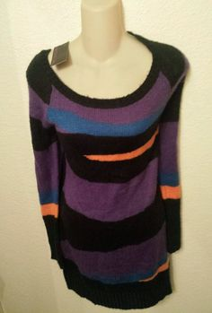 Material Girl sweater dress, size Large, with tags, unique design, artsy print. in Clothing, Shoes & Accessories, Women's Clothing, Dresses | eBay
