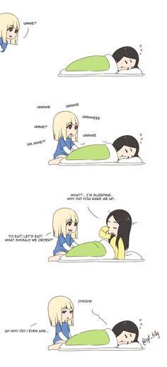 cute fanart by Kero ✌️ @sgt_fr0g  twitter: A day in the life of Jisoo: 2 #BLACKPINK #JISOO #LISA #블랙핑크
